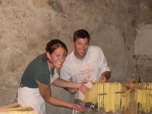 Teamwork making the pasta