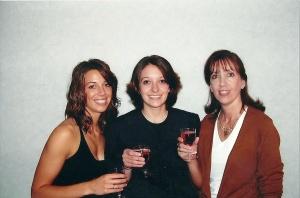 BG graduation - toasting with Steph and mom