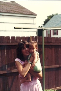Young Courtney and mom
