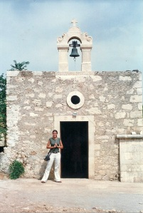 Greece 2002 - Court at Greek Church